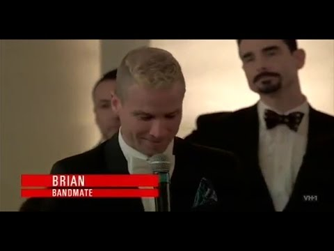 Backstreet Boys Toast at Nick's wedding