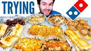 TRYING DOMINO'S NO PIZZA MENU! - Chicken Wings, Pasta, & MORE Restaurant Taste Test!