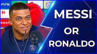 Messi Or Rronaldo? | ft. Football stars, Mbappé, De Bruyne haaland