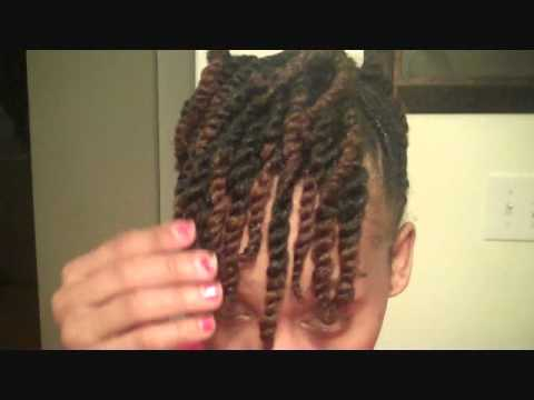 Natural Hair Side Twist With Two Strand Updo Youtube