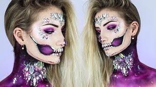Holographic Diamond Skull HALLOWEEN 2017 Makeup Tutorial ☠️💎 | Simple Symphony ♡