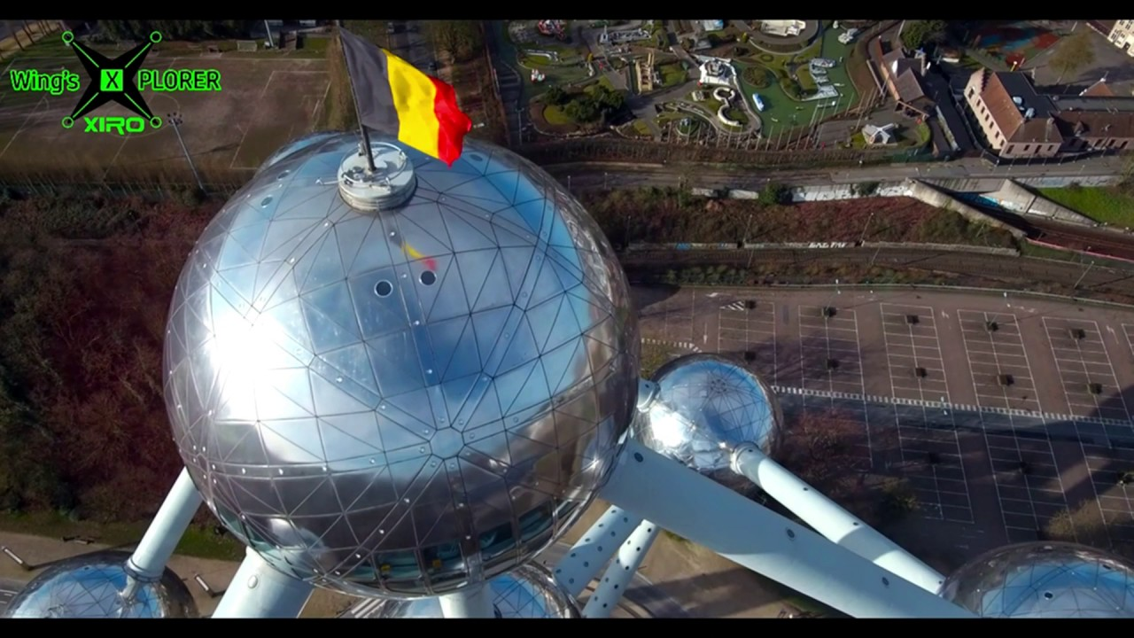 Xiro 4K frist fly on Atomium Belgium