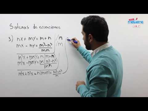 Sistemas de ecuaciones literales 3
