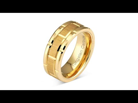 video 100S JEWELRY Personalized Engraved Tungsten Ring