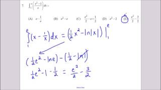 AP Calculus 1998 Multiple Choice No Calculator