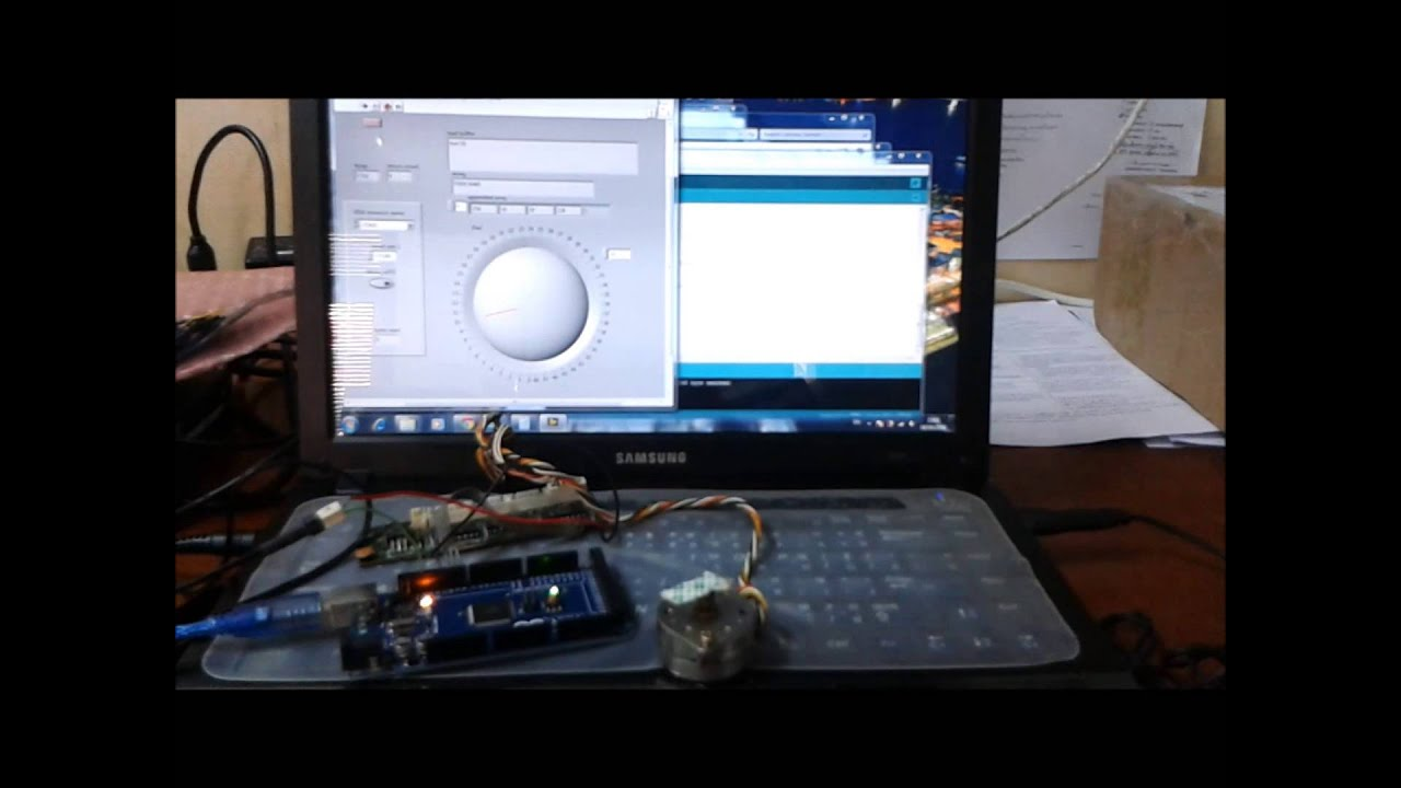Arduino example: stepper motor example discussion forums.