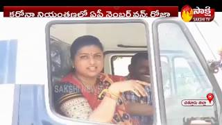 MLA RK Roja drives 108 ambulance in Nagari..