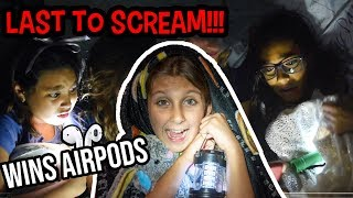 LAST TO SCREAM WINS AIRPODS AND GOOGLE HOME MINI!!! CHALLENGE