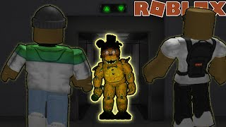 ESCAPING GOLDEN FREDDY IN ROBLOX (The Scary Elevator)