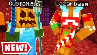 I CREATED A PUMPKIN BOSS In LAZARBEAMS MINECRAFT SERVER..