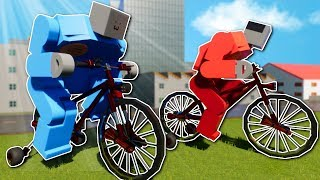 CRAZY BIKE RACE! - Brick Rigs Multiplayer Gameplay - Lego Canyon Bike Race