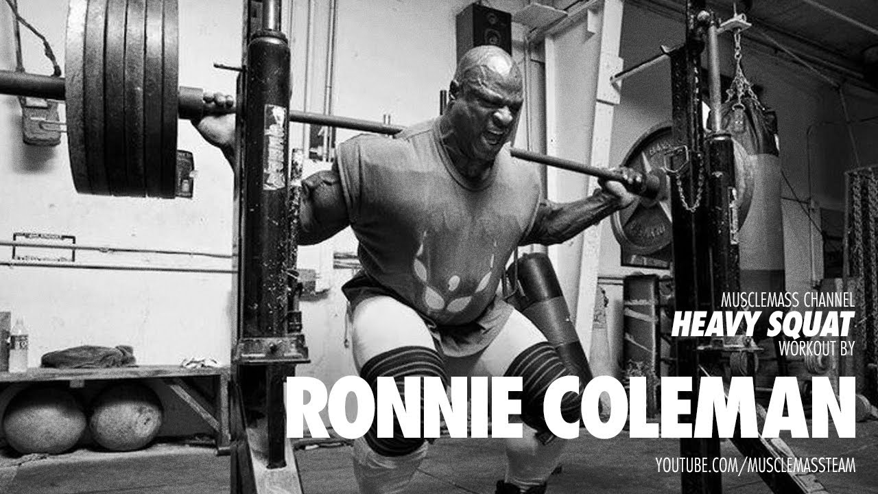 Ronnie Coleman - Squat Workout - YouTube