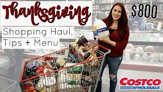 HUGE THANKSGIVING GROCERY SHOPPING TRIP | COSTCO
