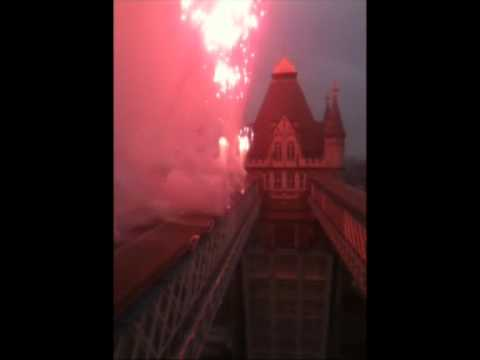 Alchemy Fireworks - Pyrotechnics for the Thames Diamond Jubilee Pageant - Tower Bridge - London