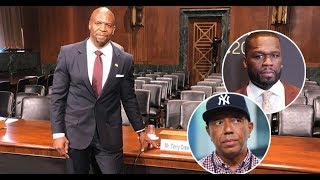 50 Cent, Russell Simmons MOCK Terry Crews as He Testifies to Senate on Behalf…
