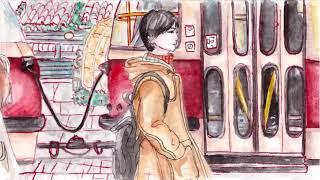 2D animation with watercolor Yesung 예성(SUPER JUNIOR/슈퍼주니어)Because I Love You(Taisetsu na kizuna)大切な絆