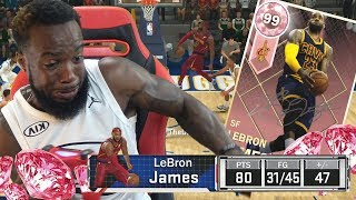 I SCORED 82+ POINTS WITH PINK DIAMOND LEBRON! NBA 2k18 MyTeam