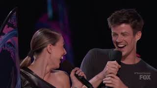 Grant Gustin and Melissa Benoist at #TeenChoice Awards