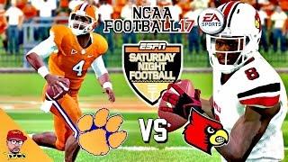 NCAA Football 17   #5 Louisville vs #3 Clemson   Watson vs Jackson Matchup Gameplay!