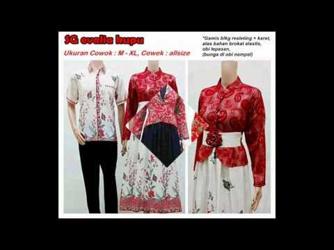 Model Baju Batik Pria Dan Wanita Couple Dan Serabit Terbaru 2016