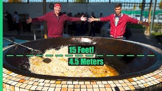 Asia's Biggest Frying Pan! Over 3,000 POUNDS of Rice and Meat Cooked Each Day!