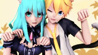 【MMD PV】Ah, It's a Wonderful Cat Life +Eng Sub 【初音ミク・鏡音レン】