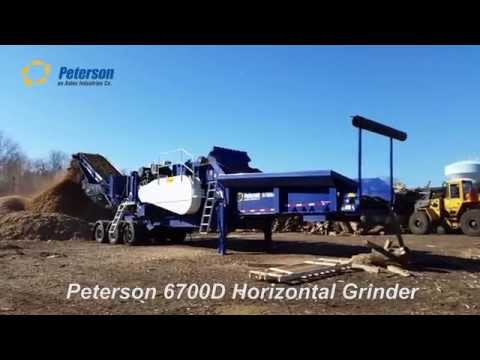 Peterson 6700D Horizontal Grinder in Green Waste