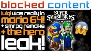 Luigi FINALLY Found in Super Mario 64! + Smash Hero LEAKS + Super Mario RPG Remake?! - LEAK SPEAK!