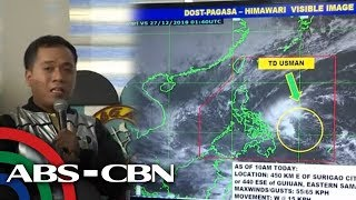 WATCH: PAGASA holds a briefing on #UsmanPH   27 December 2018