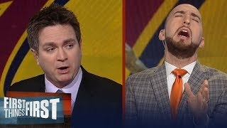 Yahoo's Chris Mannix challenges Nick Wright on theory for LeBron's Cavs | FIRST THINGS FIRST