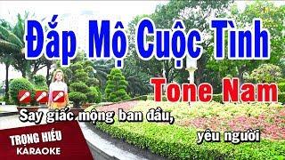 Karaoke Đắp Mộ Cuộc Tình Tone Nam Nhạc Sống   Trọng Hiếu