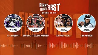Browns/Steelers, Deshaun vs. Lamar, Cam Newton, Rockets/Clippers | FIRST THINGS FIRST Audio Podcast