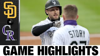 Trevor Story dominates in Rockies' 6-1 win   Padres-Rockies Game Highlights 8/1/20