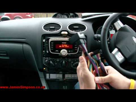ford focus mk2 5 2008 2011 stereo removal youtube. Black Bedroom Furniture Sets. Home Design Ideas