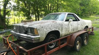 1981 El Camino Left on a Trailer for 21 Years Dragged From The Grave