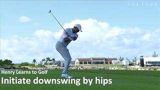 Tiger Woods Swing: Downswing by Hips