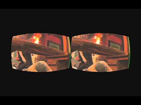 PS3 Uncharted 3 stereoscopic 3D realtime rifted for Oculus Rift