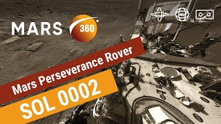 The first 360VR of Mars by NASA's Perseverance Rover with real sounds from the surface (360video 4K)