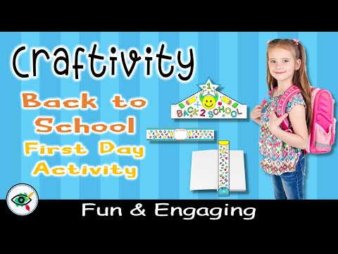 video Back to School Coloring Set