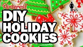 DIY Holiday Cookies, CORINNE VS COOKING #2 (FEAT. SANTA)