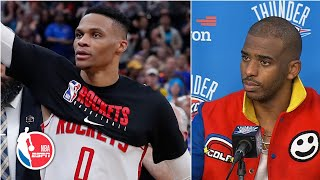 Chris Paul reacts to Russell Westbrook's return and his nutmeg of Isaiah Hartenstein   NBA Sound