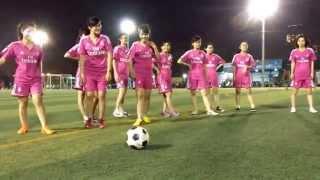 [Giải Bóng đá nữ LTT Group] Các tuyển thủ nữ ra sân trong buổi tập đầu tiên