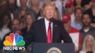 President Donald Trump Campaigns For Ted Cruz At Texas Rally   NBC News