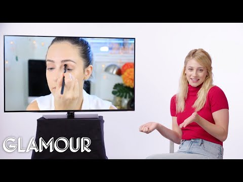 Riverdale's Lili Reinhart Fact Checks Beauty Tutorials on YouTube | Glamour
