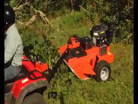 Dr Pro Xl 44 Inch Tow Behind Field And Brush Mower Youtube