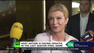 'Congratulations, Russia, for the way that you have organized this World Cup' – Croatian president