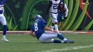 Daniel Jones Hamstring Injury Full Sequence | NFL Week 12