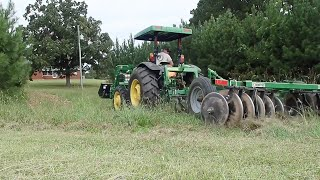 John Deere tractor disking fields & thoughts on Taylor Swift