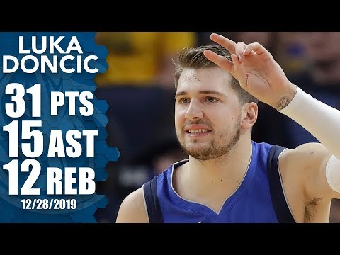 Luka Doncic posts monster triple-double vs. Warriors as tempers flare late | 2019-20 NBA Highlights