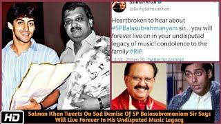 Salman Khan heartbroken on SP Balasubrahmanyam demise..